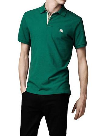 b705fead0ab2 Burberry Ανδρική Πόλο Polo Μπλούζα Brit με κουμπιά σε Σκούρο Πράσινο χρώμα,  Forest Green,