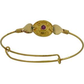 Παιδικό βραχιόλι χειροπέδα χρυσό 14 καράτια με ζιργκόν 27490ea7810