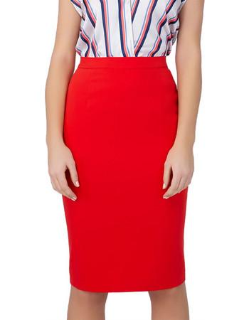 67d4c14f334 Billy Sabbado γυναικεία pencil φούστα με κουμπιά - 0234133236 - Κόκκινο