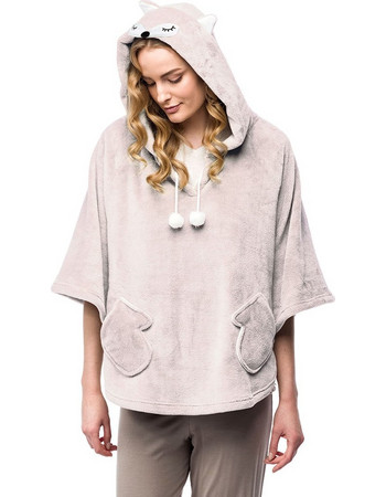 Ρόμπα κάπα fleece Sonia Vamp 00-10-7237 - εκρού 34195896087