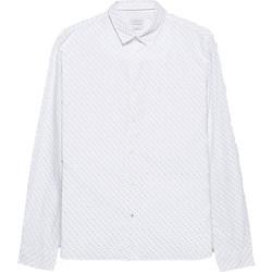 Esprit ανδρικό πουκάμισο με all-over print - 088EE2F009 - Λευκό 5b486b240ce