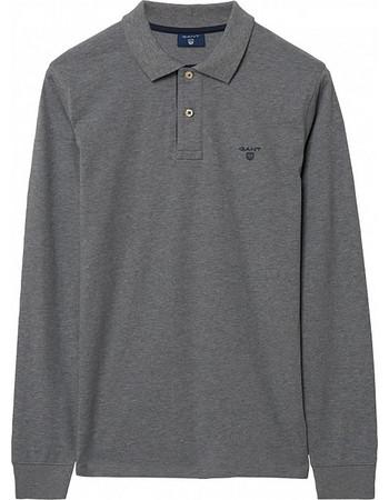 975349b7ff05 Ανδρική μονόχρωμη polo μπλούζα GANT - 255105 - Ανθρακί