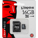Kingston 16GB microSDHC Class 10 + Adapter