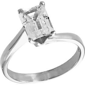 Δαχτυλίδι μονόπετρο λευκόχρυσο 14 καράτια με ζιργκόν swarovski(R) 2968c25bdb4