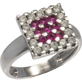 Δαχτυλίδι λευκόχρυσο 14 καράτια με λευκά και ρόζ ζιργκόν 4b671828b57