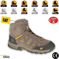 22859e1eb0c Παπούτσια Μποτάκια Ασφαλείας - Εργασίας Καφέ Caterpillar Structure MID SB- HRO-SRA