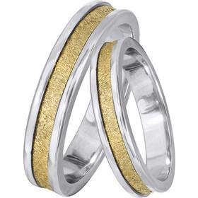 Δίχρωμες βέρες γάμου Κ14 028466 028466 Χρυσός 14 Καράτια 62b342f2ccb