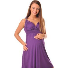 bc4a0c3e3f9c Καλοκαιρινό βιολετί φόρεμα εγκυμοσύνης Purpless