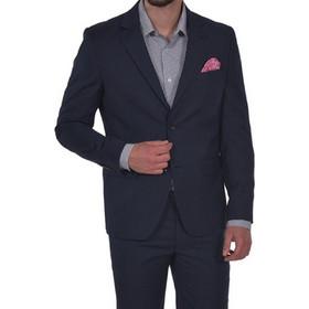 121939ae7c6 Dur κοστούμι πικέ από παρθένο μαλλί - 45200063 - Μπλε Σκούρο